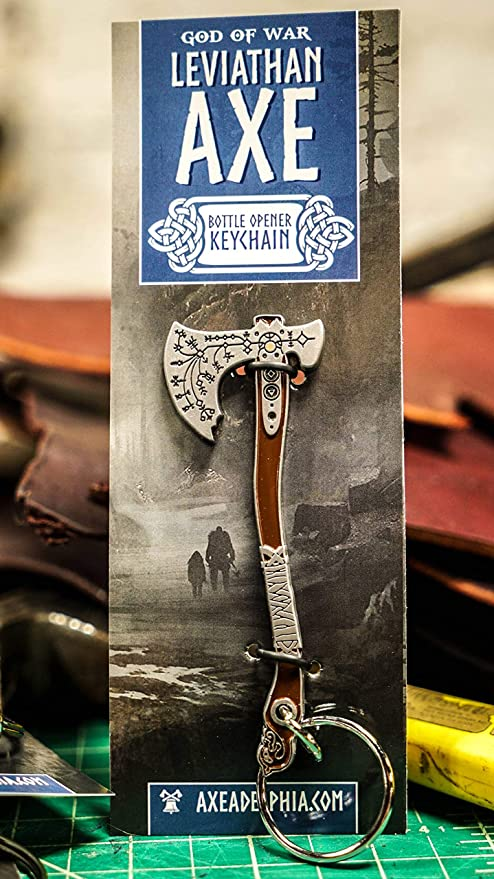"God of War Leviathan Axe Bottle Opener Keychain 4/"" Diecast Official Sony Keyring"