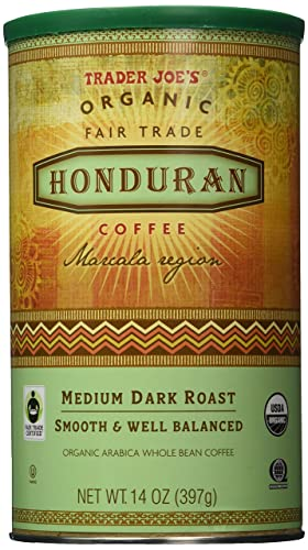 Trader Joe's Organic Fair Trade Honduran Whole Bean Coffee