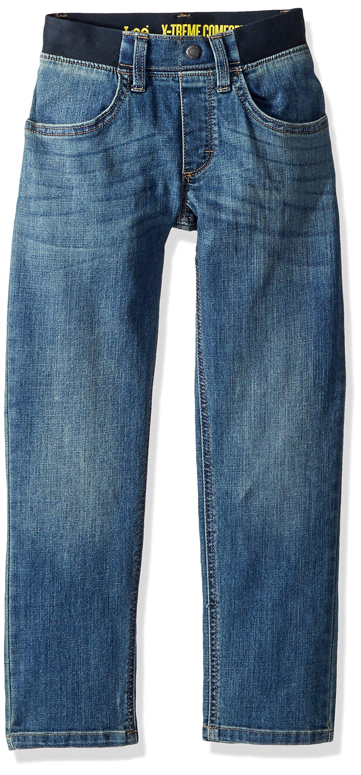LEE Little Boys' X-Treme Comfort Pull-on Relaxed Tapered Leg Jean, Zeke, 7X Slim