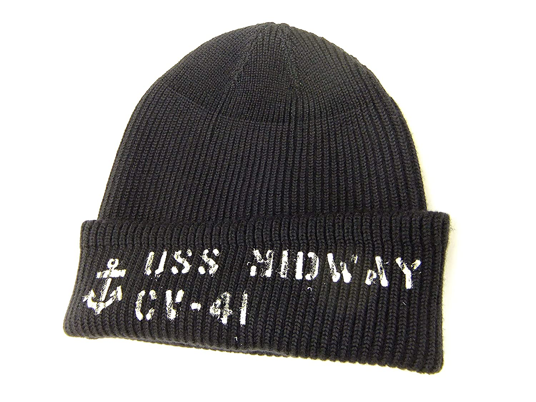 9d48200ac32 Buzz rickson s Men s US Navy Watch Cap Stencil Wool Knit Winter Cap BR02258 Navy  Blue (One-Size) at Amazon Men s Clothing store