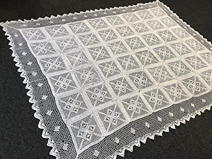 Amazoncom Mikash 72x144 White Color 100 Cotton Crochet Rectangle