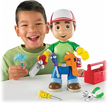 """Disney Handy Manny Talking 10/"""" Let/'s Get to Work Toy English//Spanish"""