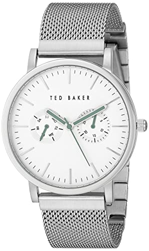 3e20ae76f Ted Baker Men s TE3037 Smart Casual Silver Case Multi-Function Mesh Strap  Watch