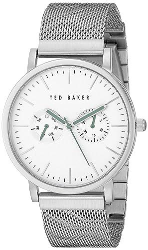 3e20ae76f Ted Baker Men s TE3037 Smart Casual Silver Case Multi-Function Mesh Strap  Watch
