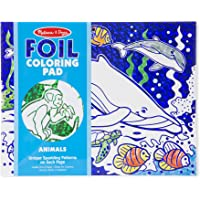 Melissa & Doug Foil Coloring Pad Animals Toy