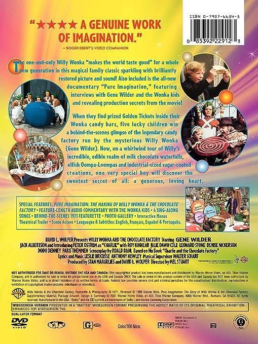 Amazon.com: Willy Wonka and the Chocolate Factory: Gene Wilder ...