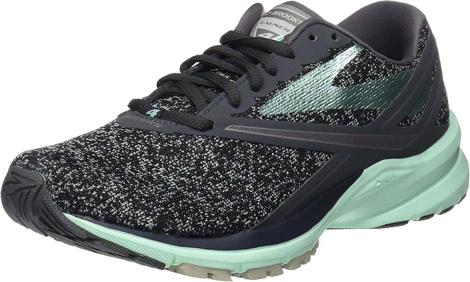 Brooks Women s Launch 4 Anthracite Beach Glass Silver 8 B US