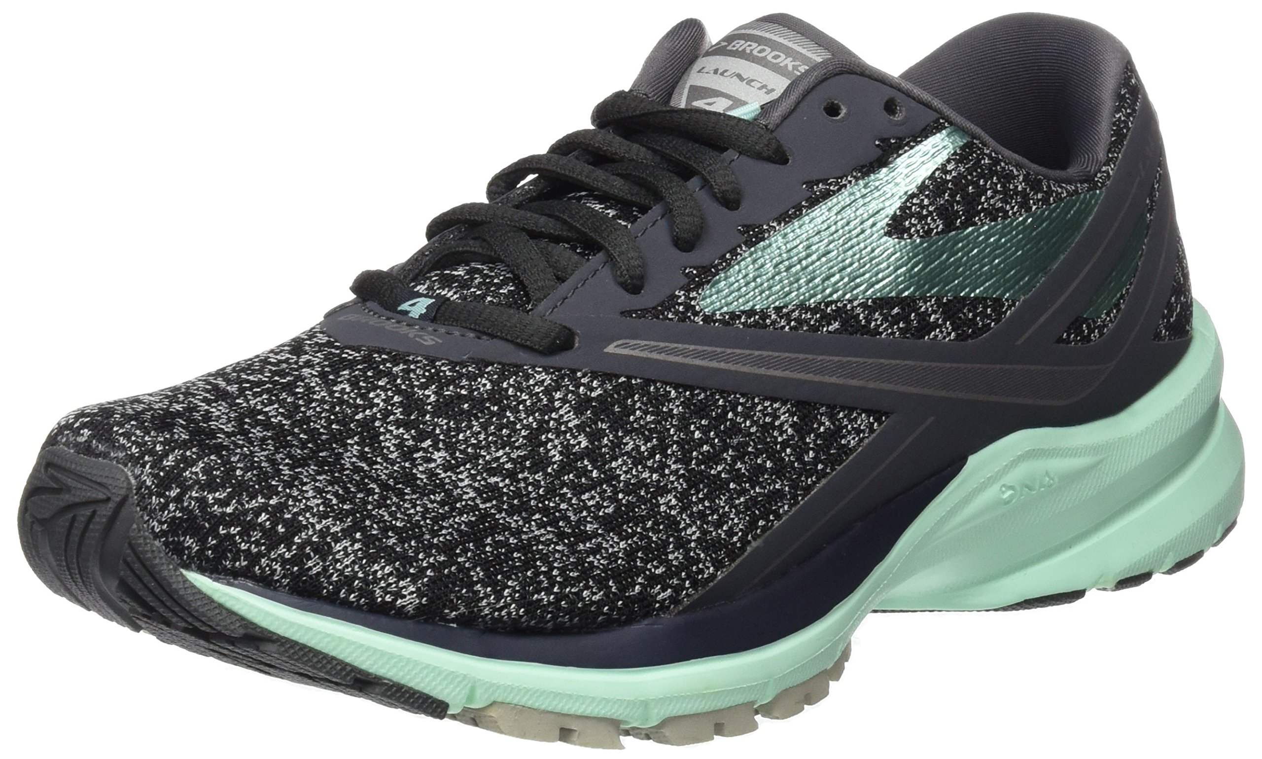Brooks Women's Launch 4 Anthracite/Beach Glass/Silver 7 B US by Brooks