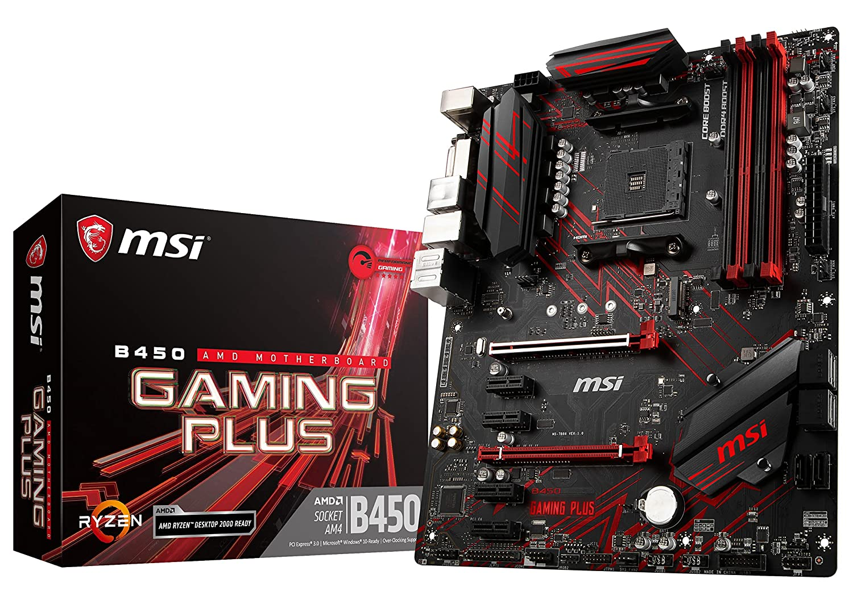 MSI Performance Gaming AMD Ryzen 1st and 2nd Gen AM4 M.2 USB 3 DDR4 DVI HDMI Crossfire ATX Motherboard (B450 Gaming Plus) MSI COMPUTER