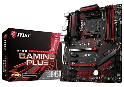 MSI Performance Gaming AMD Ryzen 1st and 2nd Gen AM4 M 2 USB 3 DDR4 DVI  HDMI Crossfire ATX Motherboard (B450 Gaming Plus)