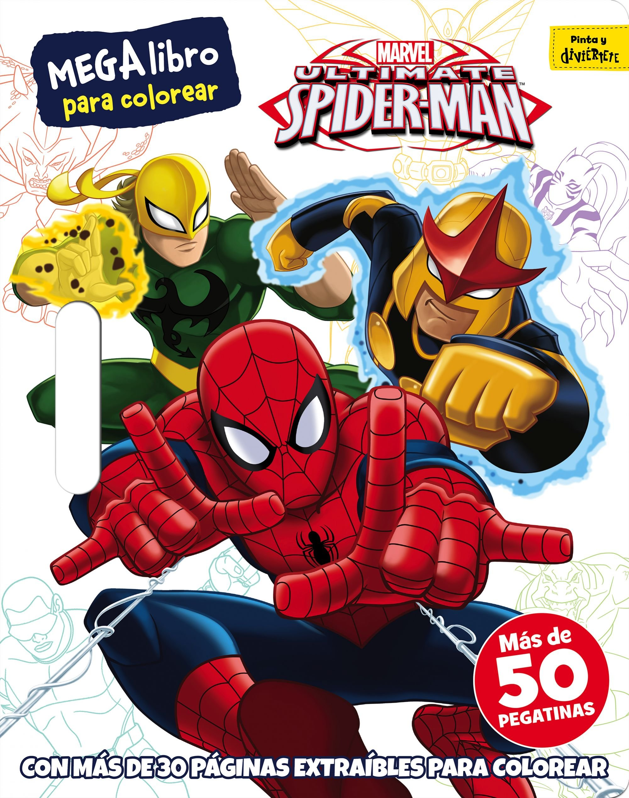Spider Man Megalibro Para Colorear Amazon Es Marvel
