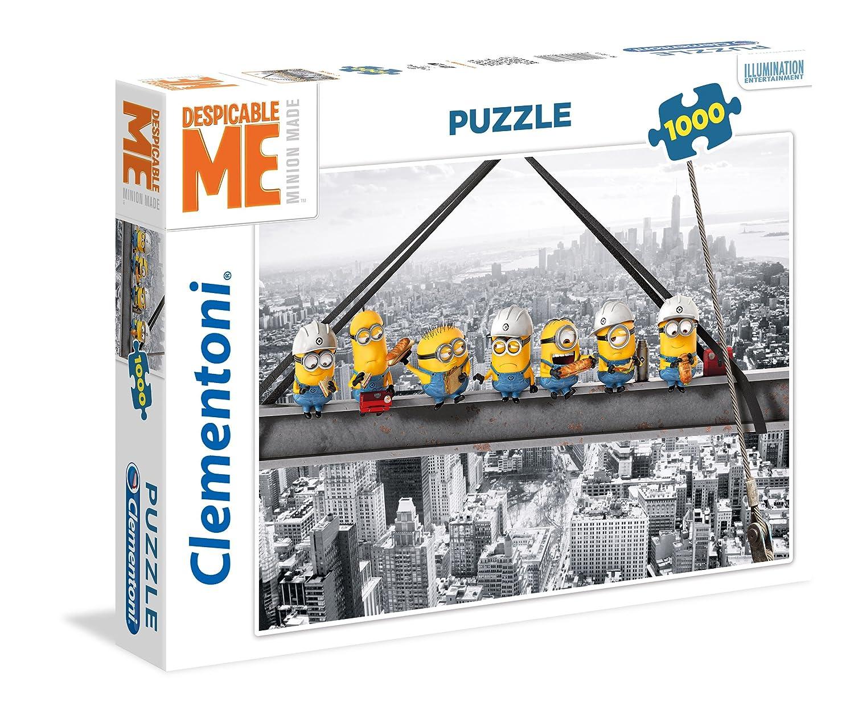 Clementoni - Puzzle 1000 Piezas Minions ATOP a Skyscraper (39370) 39370.1