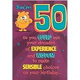 """Hallmark 50th Birthday Card""""You're 50"""" - Medium"""