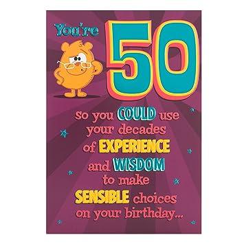 Hallmark 50th Birthday Card Youre 50 Medium Amazon