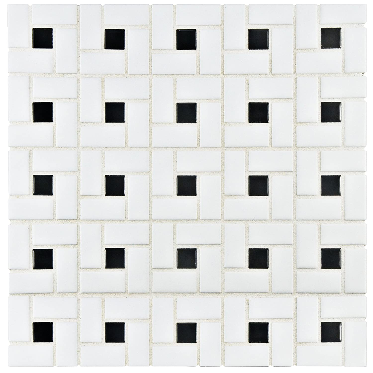 Somertile fkomsp20 retro spiral porcelain floor and wall tile somertile fkomsp20 retro spiral porcelain floor and wall tile 125 x 125 whiteblack ceramic tiles amazon dailygadgetfo Gallery