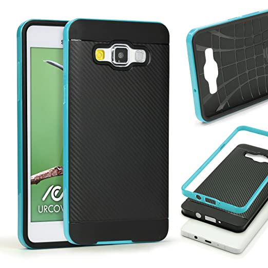 3 opinioni per URCOVER Custodia Protettiva Samsung Galaxy A3 2015 | Back Cover Rigida Carbon