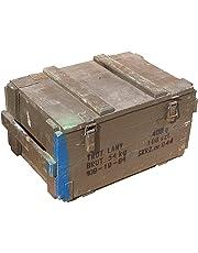 munititions Boîte LANY 044Épaisseur sur 1cm Dimensions Dimensions env. 60x 40x 32cm Dimensions intérieures 48x 40x 32cm Rangement Boîte Box en bois boîte des Munitions Militaire vin Boîte Pomme Shabby Vintage