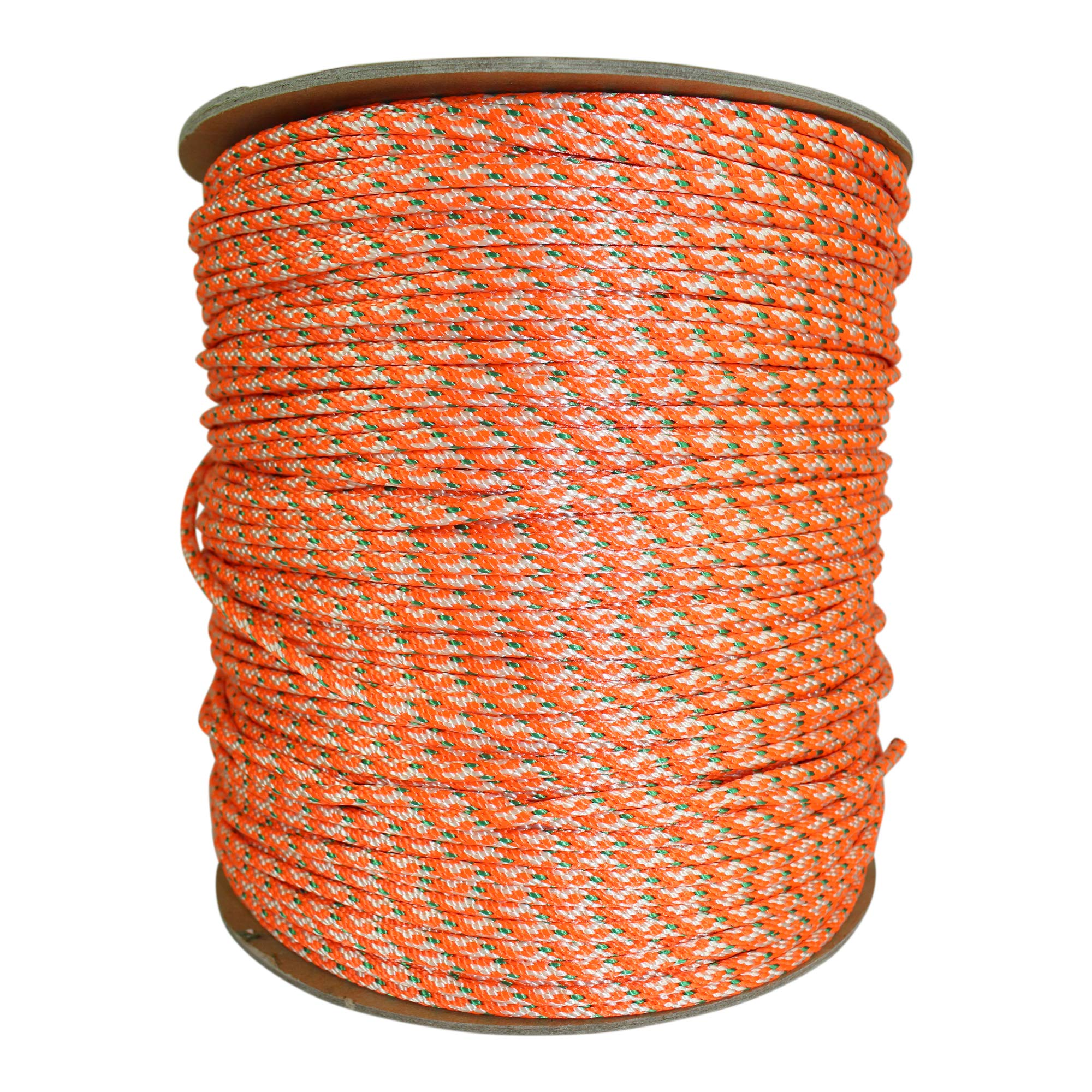 Dacron Polyester Pull Cord (#4) - SGT KNOTS - Solid Braid Rope - Small Engine Starter Rope - Replacement Cord Rope for Lawn Mowers, Leaf Blowers, Snowblowers, Generators, More (100 feet, Orange) by SGT KNOTS