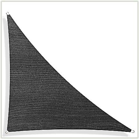 ColourTree Custom Size 6 x 6 Black Sun Shade Sail Canopy UV BlockRectangle Commercial Standard Heavy Duty 3 Years Warranty 190 GSM
