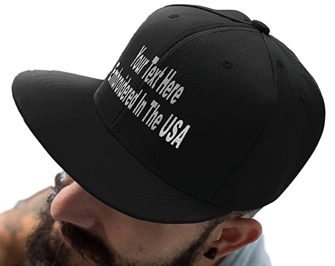 91782528136 Custom Snapback Hat. Otto. Embroidered. Your Own Text Flatbill Bill Snapback.  (