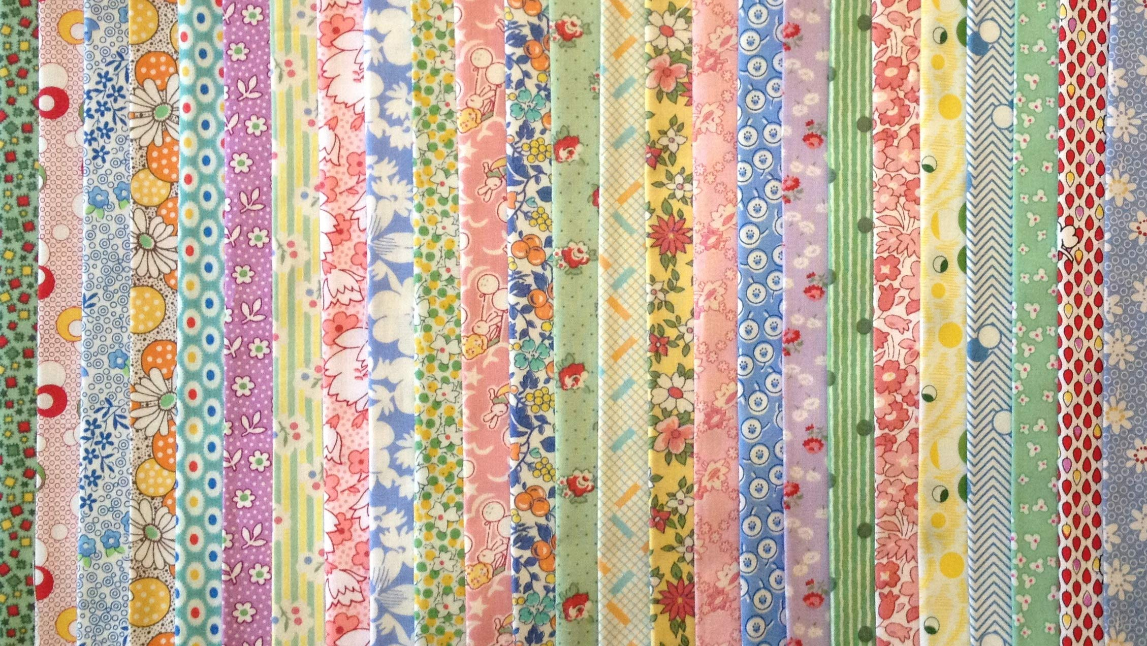 100 1930's Reproduction Fabric Fat Eighths Feedsack Quilt Shop Quality No Dups 100% Cotton by Assorted Quilt Shop Brands (Image #3)