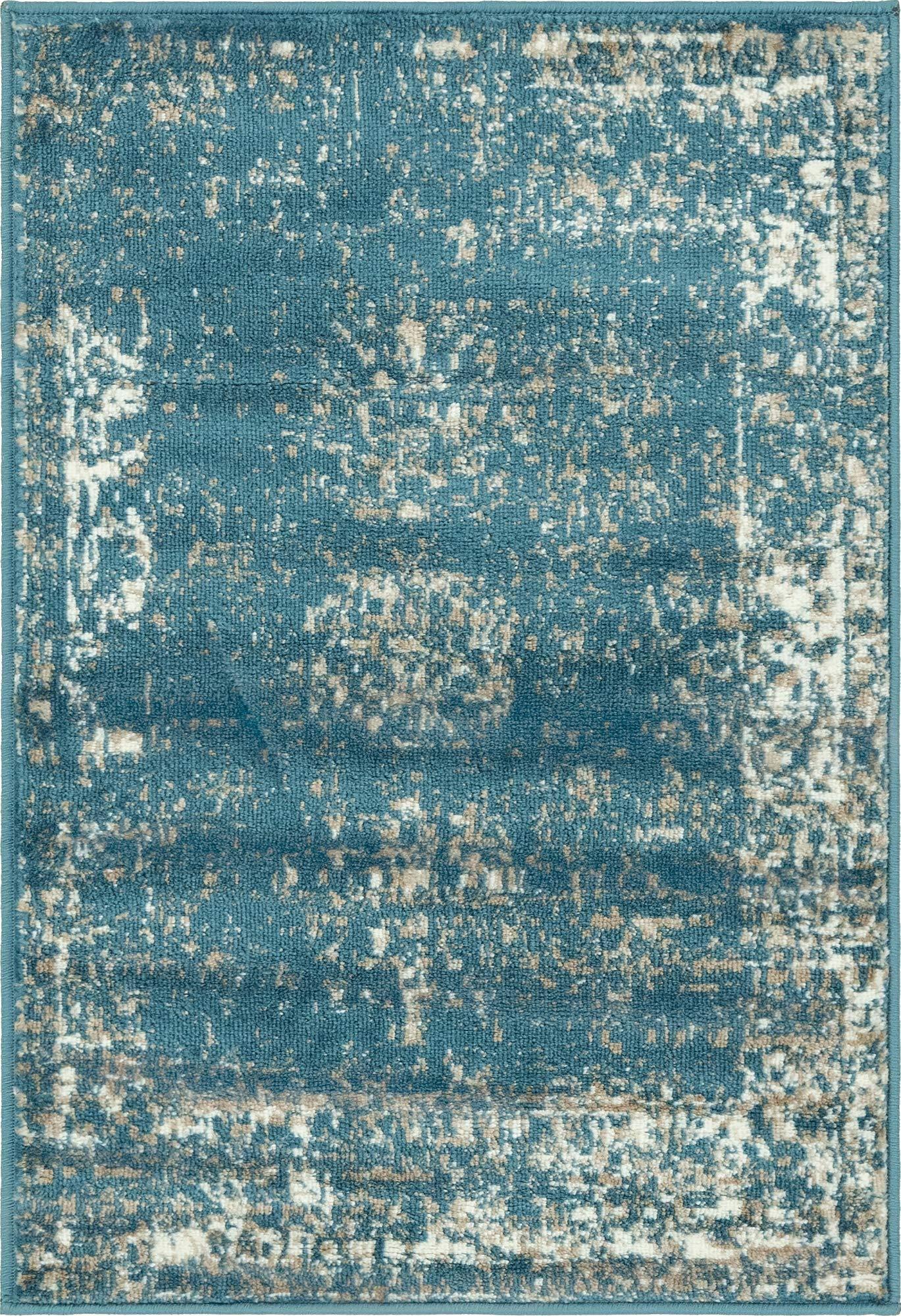 Unique Loom 3141397 Area Rug, 2' x 3' Rectangle, Blue