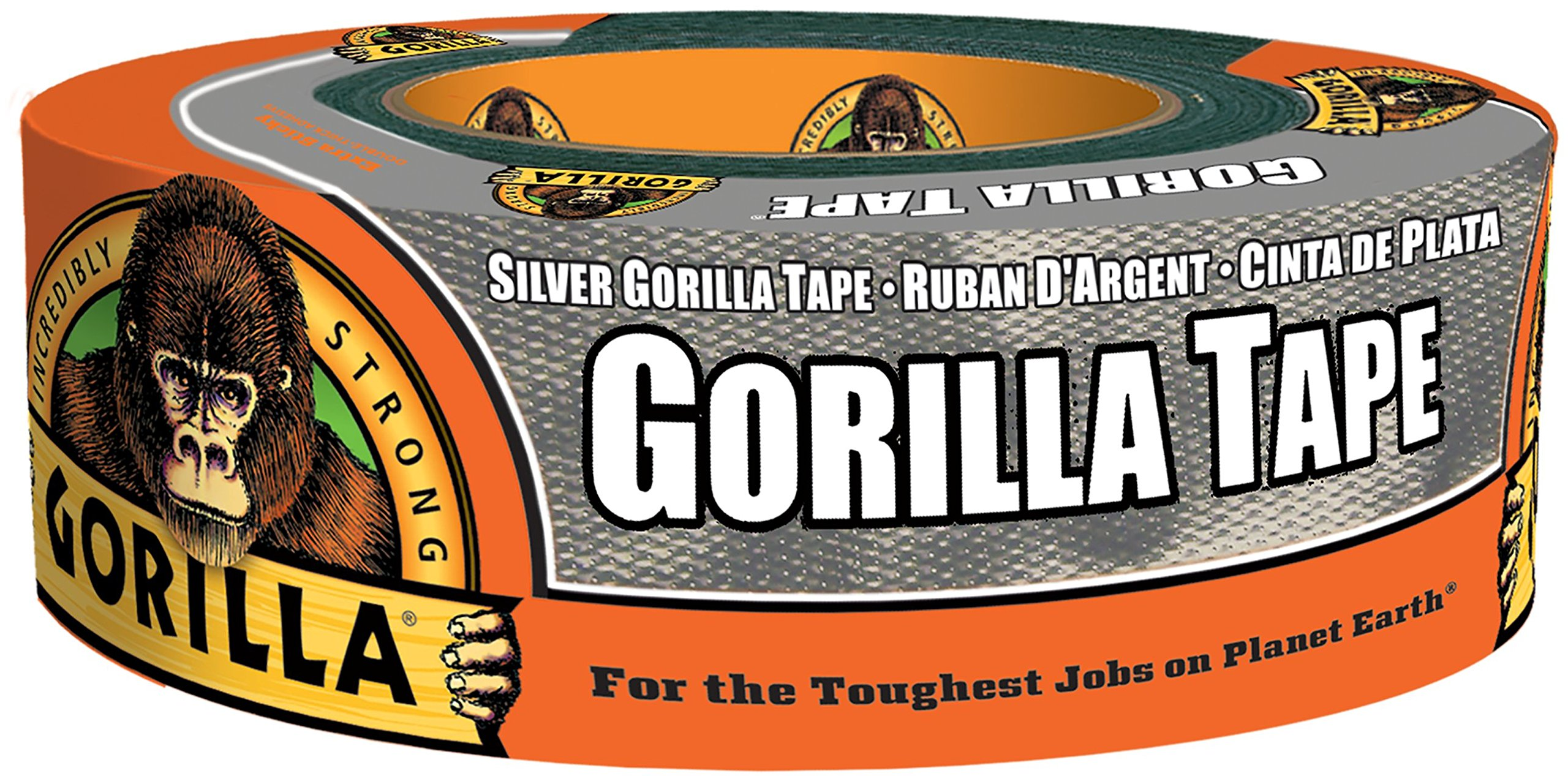 Gorilla Tape, Silver Duct Tape, 1.88'' x 35 yd, Silver, (Bulk Pack of 18) by Gorilla (Image #1)