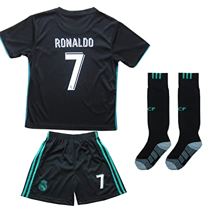 best service 60d21 3b85f FCM 2018/2019 New #7 Cristiano Ronaldo Kids Third Soccer Jersey & Shorts  Youth Sizes