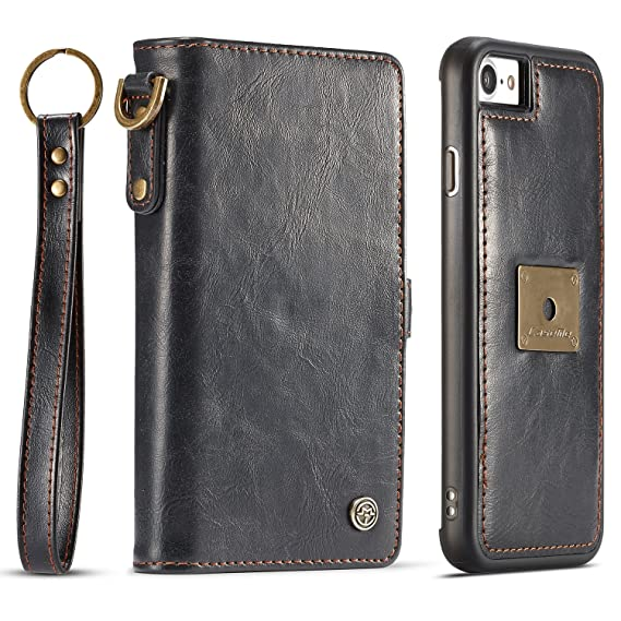 iPhone 7 Wallet Case,iPhone 8 Wallet Case,PU Leather Card Slot Wrist Band