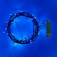 Lights4fun 2 x Set Deal of 50 LED Outdoor Battery Operated Fairy Lights