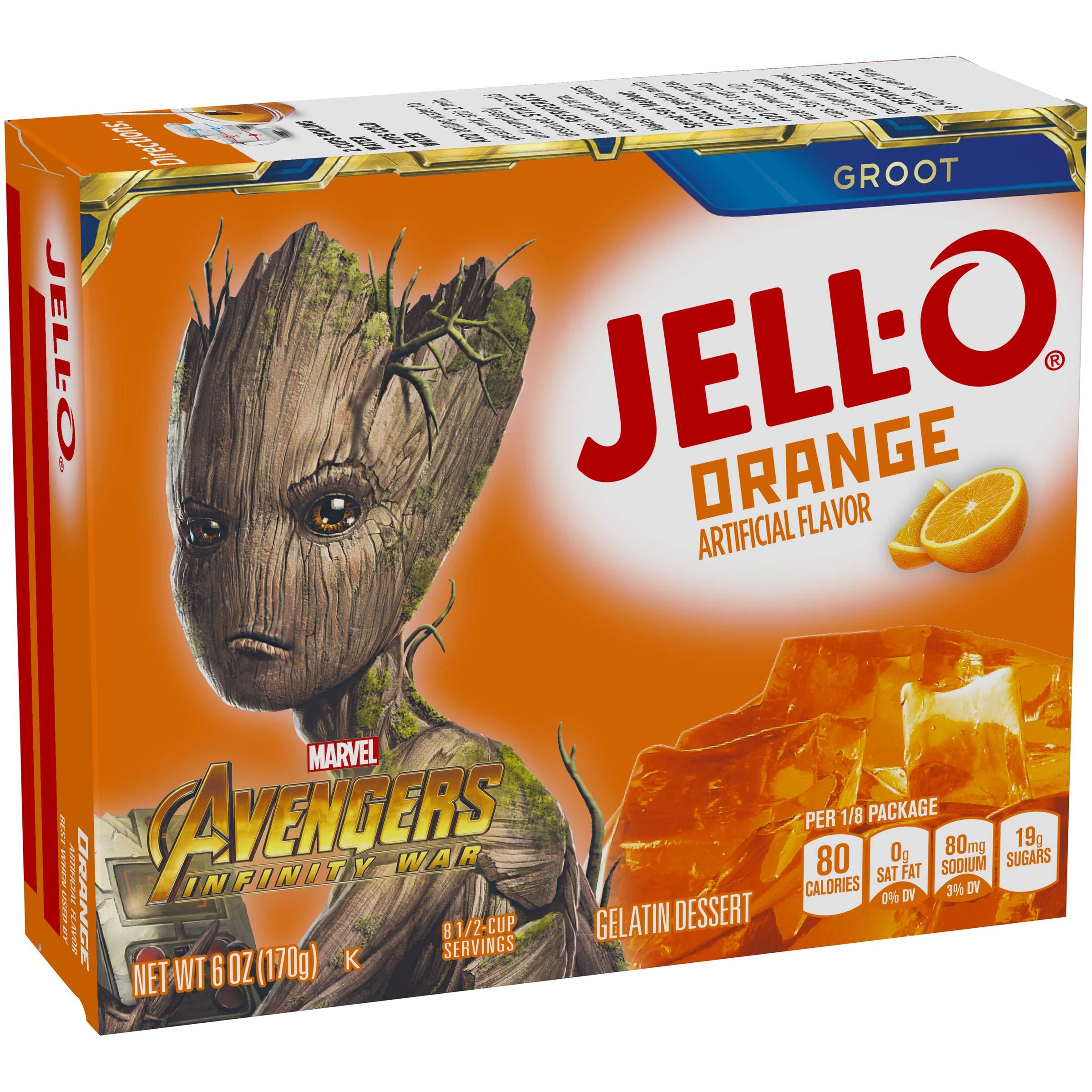 Jell-O Orange Gelatin Dessert Mix, 6 oz Box by Jell-O (Image #6)