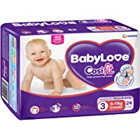 BabyLove Cosifit Crawler Nappies 6-11kg (24 pack x 4)