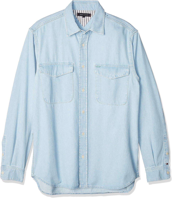 Tommy Hilfiger Denim Shirt Str Aubrey Blue Camisa, Azul, X-Small (Talla del Fabricante:) para Hombre: Amazon.es: Ropa y accesorios