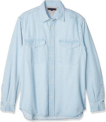 Tommy Hilfiger Denim Shirt Str Aubrey Blue Camisa para Hombre ...