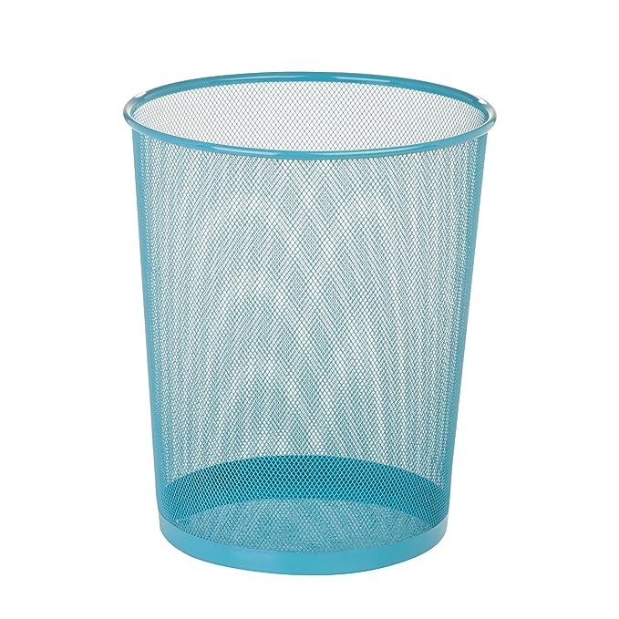 Amazon.com: Honey-Can-Do Steel Mesh Powder Coated Waste Basket ...