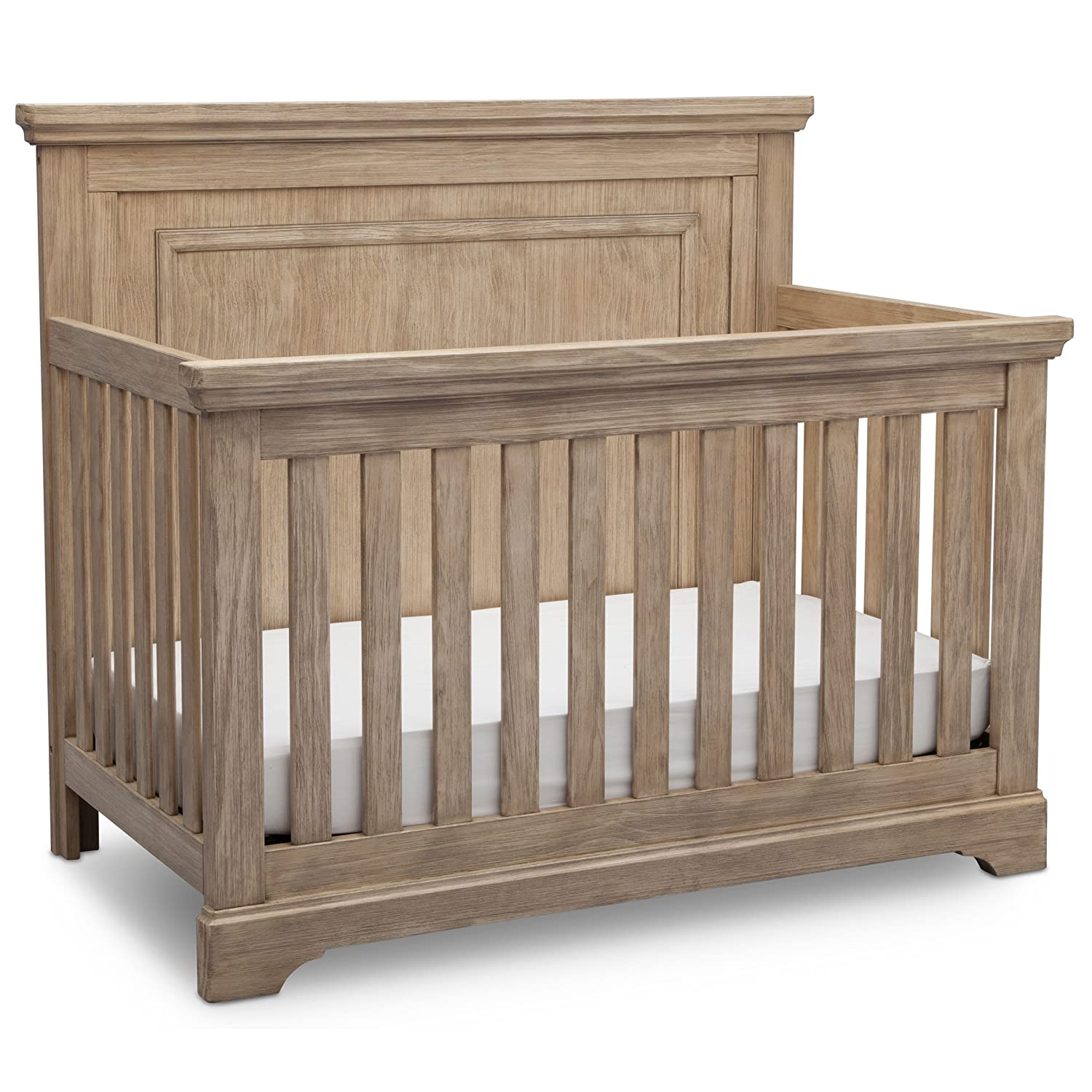 Simmons Kids SlumberTime Paloma 4-in-1 Convertible Baby Crib, Rustic Driftwood Delta Baby Dropship 328150-112