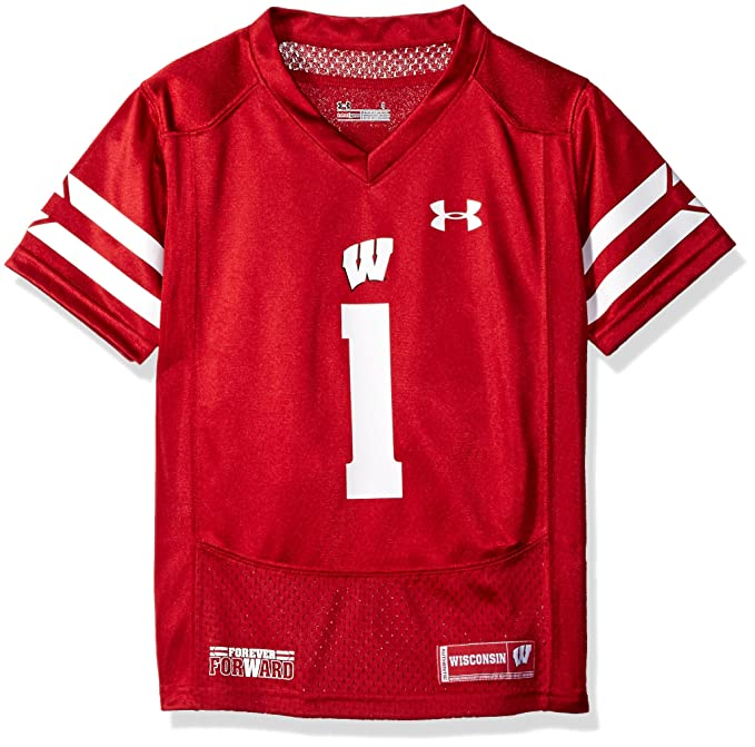 fc1ad59e Under Armour NCAA Wisconsin Badgers Boys Replica Jersey, 2 Tall, Flawless