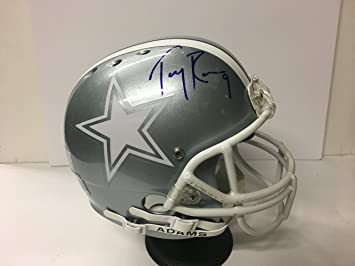 Tony Romo  9 Signed Dallas Cowboys Full Sized Football Helmet!  Professional 62c6ead3f