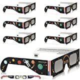 Amazon Price History for:Solar Eclipse Glasses - CE and ISO Certified Safe Shades for Direct Sun Viewing - Viewer & Filter - Made in USA (6 Pack) - Astronaut American Flag
