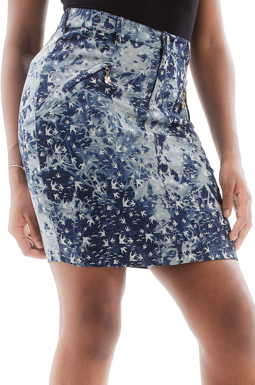 ÇA VA BIEN FASHION] Falda Midi Corta Verano Mujer - Falda Corta Elegante para Mujer   Falda Midi Mujer con Flores