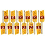 """12 PACK 2"""" Angle Sash PRO PERFECT PAINT BRUSH LOT. Includes 12 each 2"""" Angle Sash Brushes. These are NOT Purdy brushes but the greatest alternative at a HUGE discount!"""
