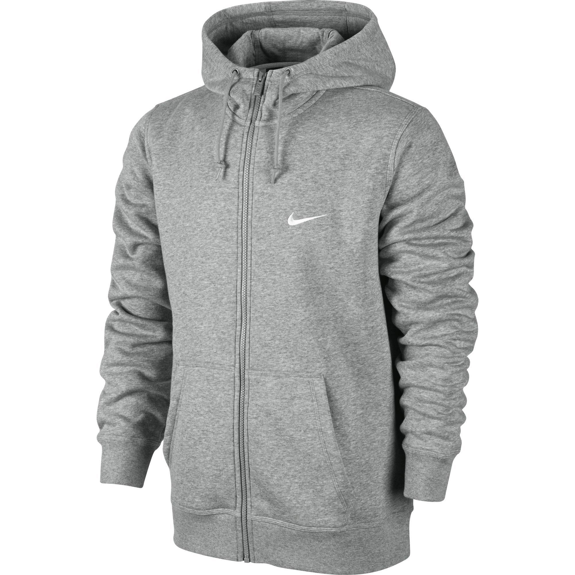 85ad18a62 Galleon - Nike Men's Club Swoosh Full-Zip Hoodie, Dark Grey Heather, Large