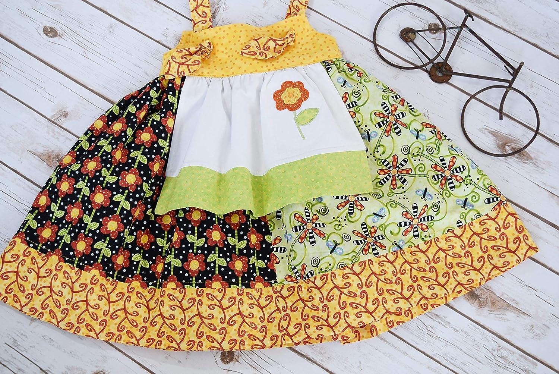 Amazon Com Girls Toddler Dress Girls Toddler Apron Dress Girls