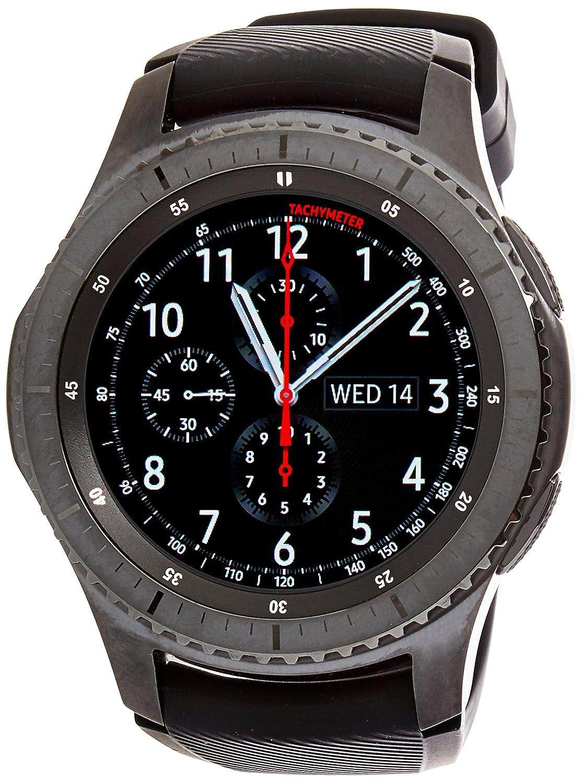 SAMSUNG Gear S3 Frontier - Reloj Inteligente, Color Gris Oscuro (Importado) [Versión importada: Podría presentar Problemas de compatibilidad]
