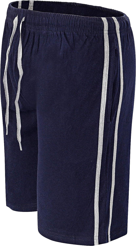 Confezione da 2 pantaloncini da uomo in cotone con elastico in vita super morbido e comodo pigiama da notte