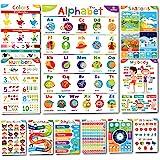 Sproutbrite Educational Posters for Toddlers - Classroom Decorations - Kindergarten Homeschool Supplies Materials - Preschool