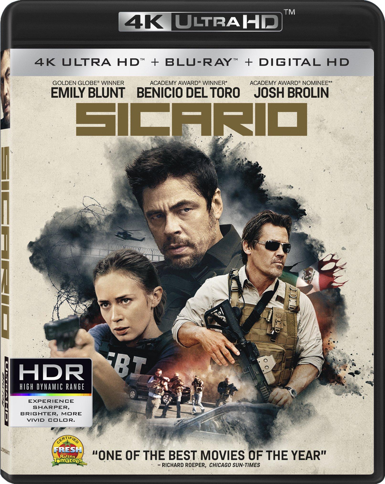 4K Blu-ray : Sicario (4K Mastering, 2 Pack, 2 Disc)