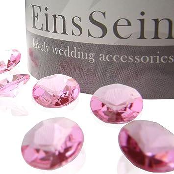 Einssein 1000x Diamantkristalle 12mm Rosa Dekoration Streudeko