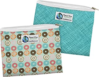product image for Planet Wise Reusable Zipper Sandwich Bag - Donut Delight/Drip Drop