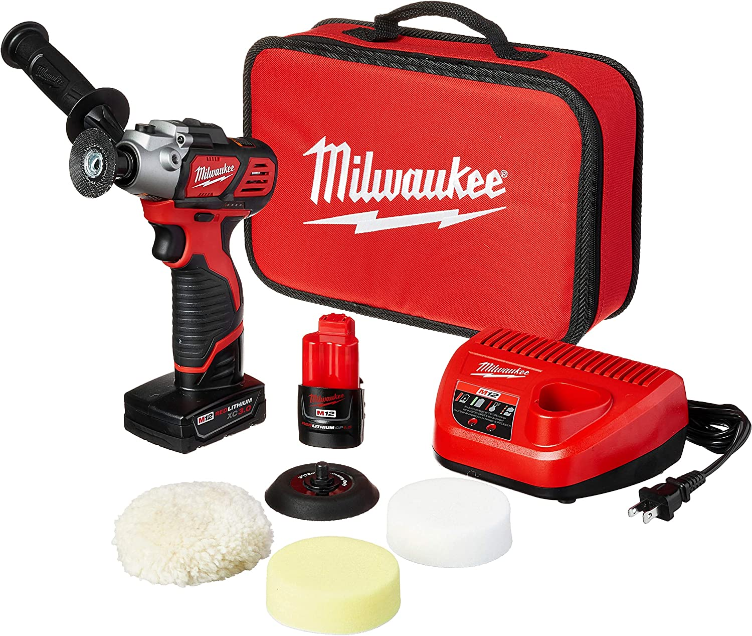Milwaukee 2438-22X M12 Variable Speed Polisher/Sander – Xc/Cp Kit - -